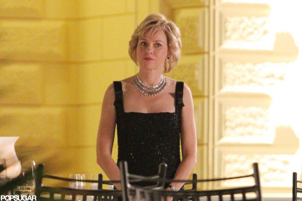 Naomi Watts was in character as Princess Diana.