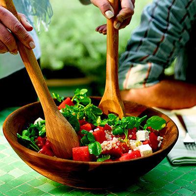 Fourth of July: Giada De Laurentiis Recipe Idea.....Couscous with Watermelon, Watercress, and Feta Cheese
