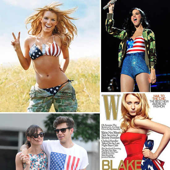 Pictures of Celebrities With American Flags
