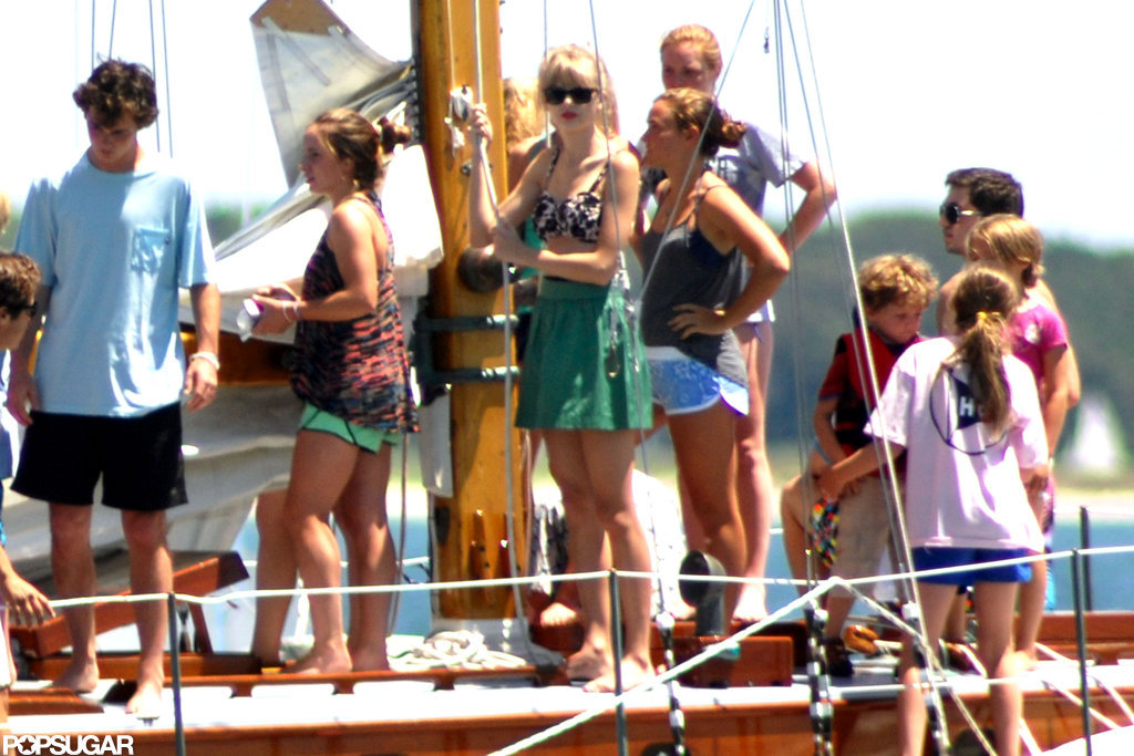 Taylor Swift went boating with the Kennedys.