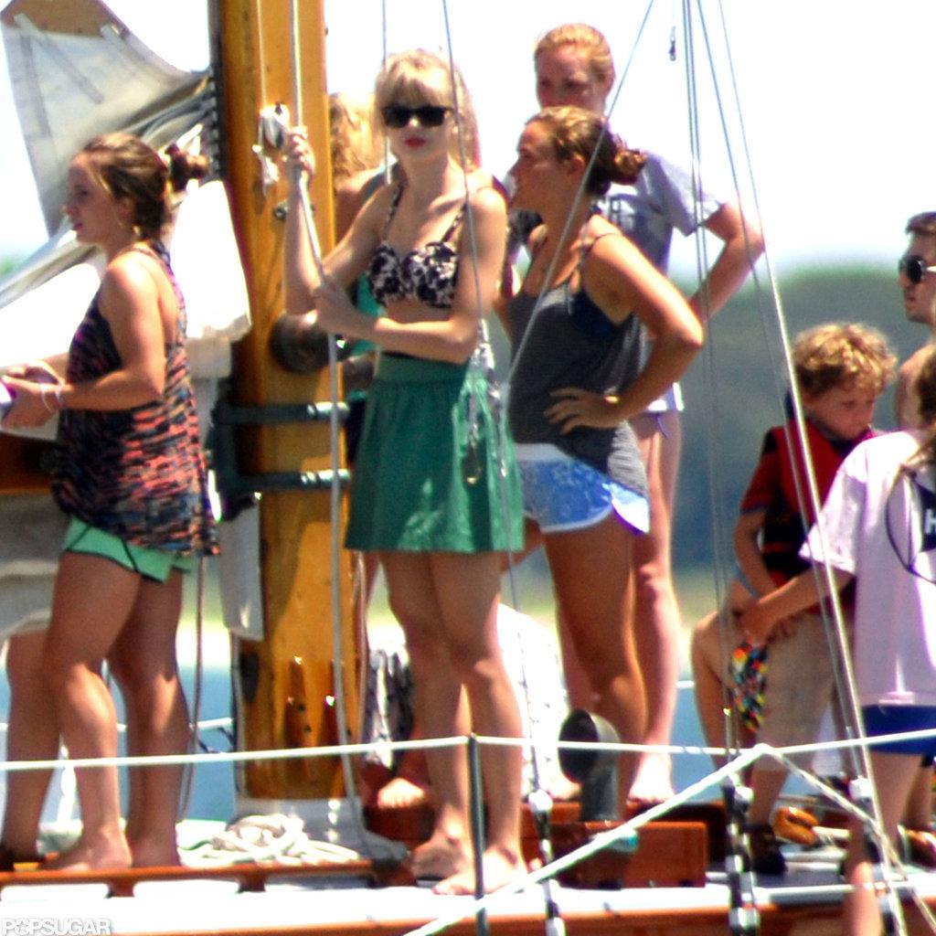 Taylor Swift wore a bikini top in Hyannis Port.