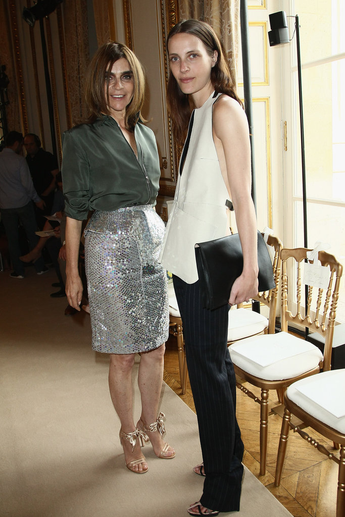 Vanessa Traina and Carine Roitfeld