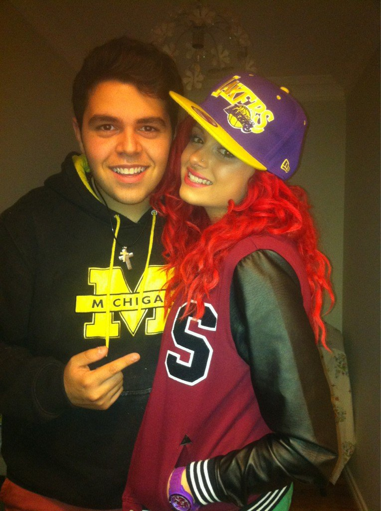 Sarah De Bono was happy to be reunited with her boyfriend James Yammouni. Source: Twitter user Sarah_DeBono