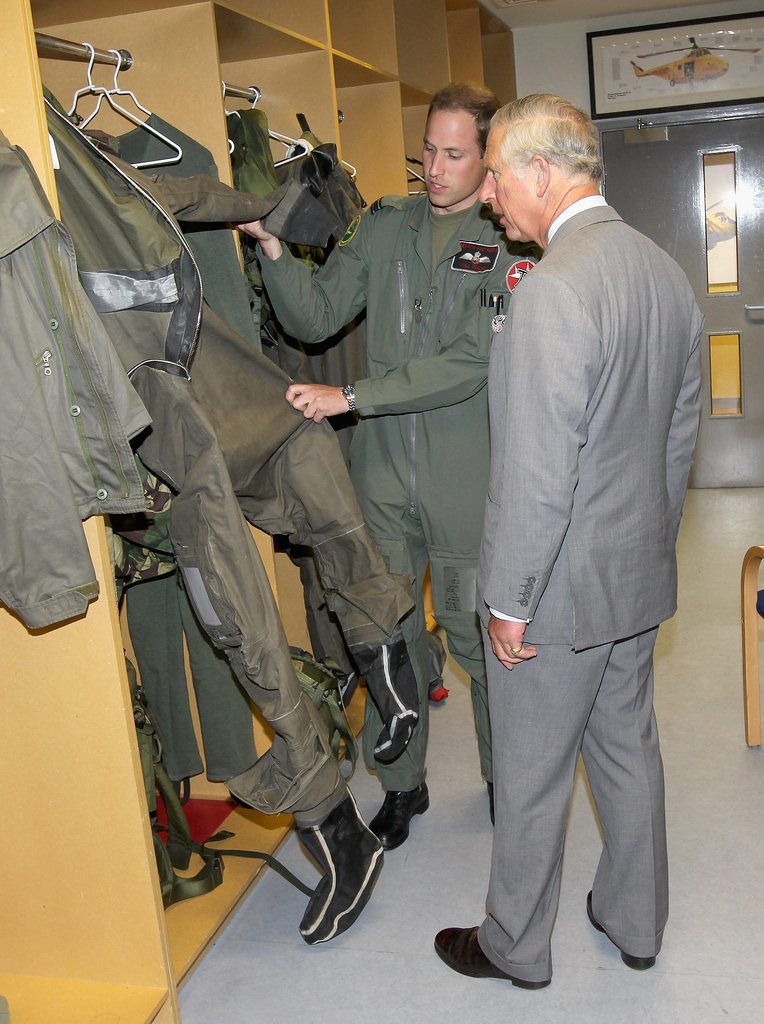 Prince William showed his dad, Prince Charles, around the base.