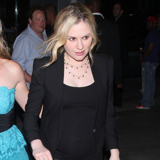 Pregnant Anna Paquin Leaving True Blood Wrap Party Pictures