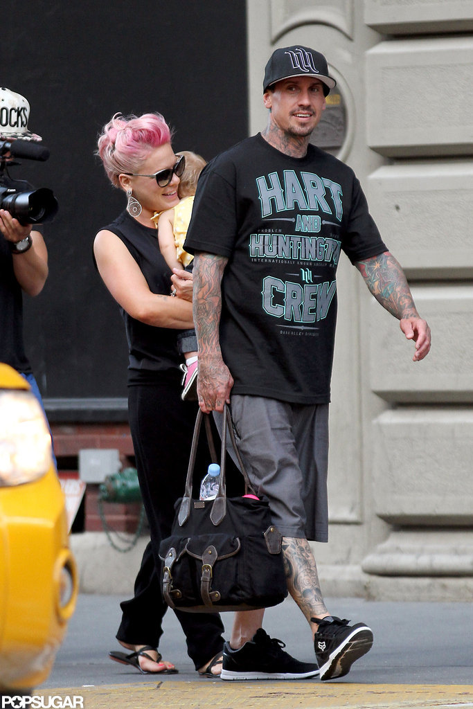 Carey Hart and Pink took Willow to NYC.