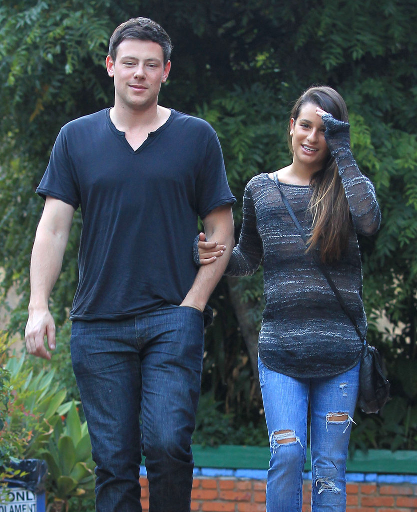 Glee's Cory Monteith and Lea Michele were together.
