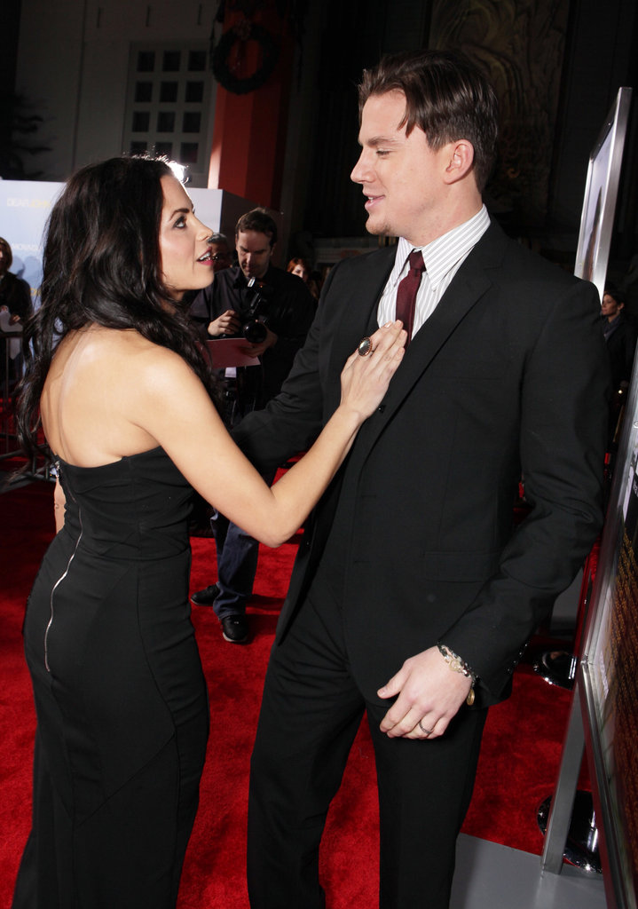Jenna shared a sweet moment with Channing at the February 2010 LA premiere of Dear John.