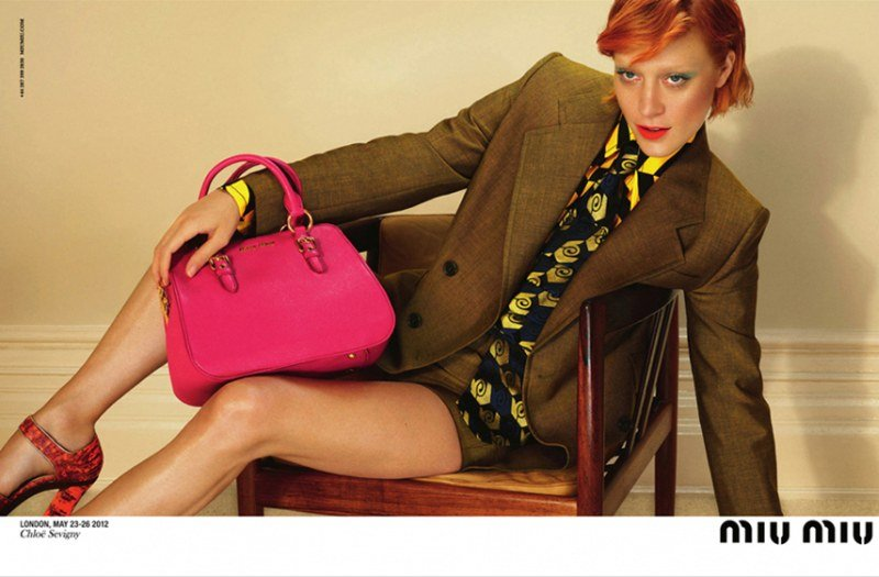 Chloe Sevigny personifies Miu Miu's penchant for eclectic styling and quirky patterns.