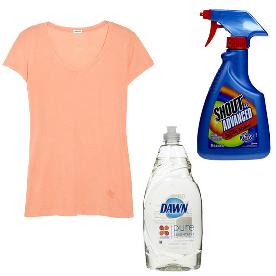 How to get rid of oil stains on clothes popsugar fashion for Oil stain in shirt