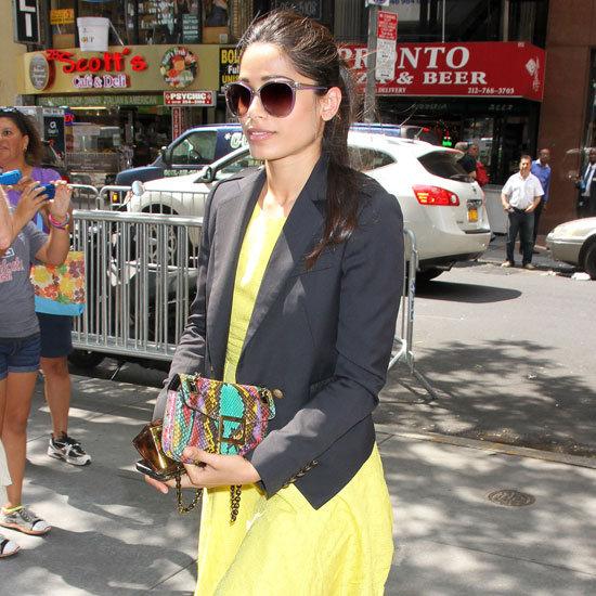 Freida Pinto Wearing Yellow Dress