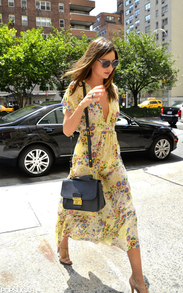 Miranda Kerr walked through NYC on Wednesday.