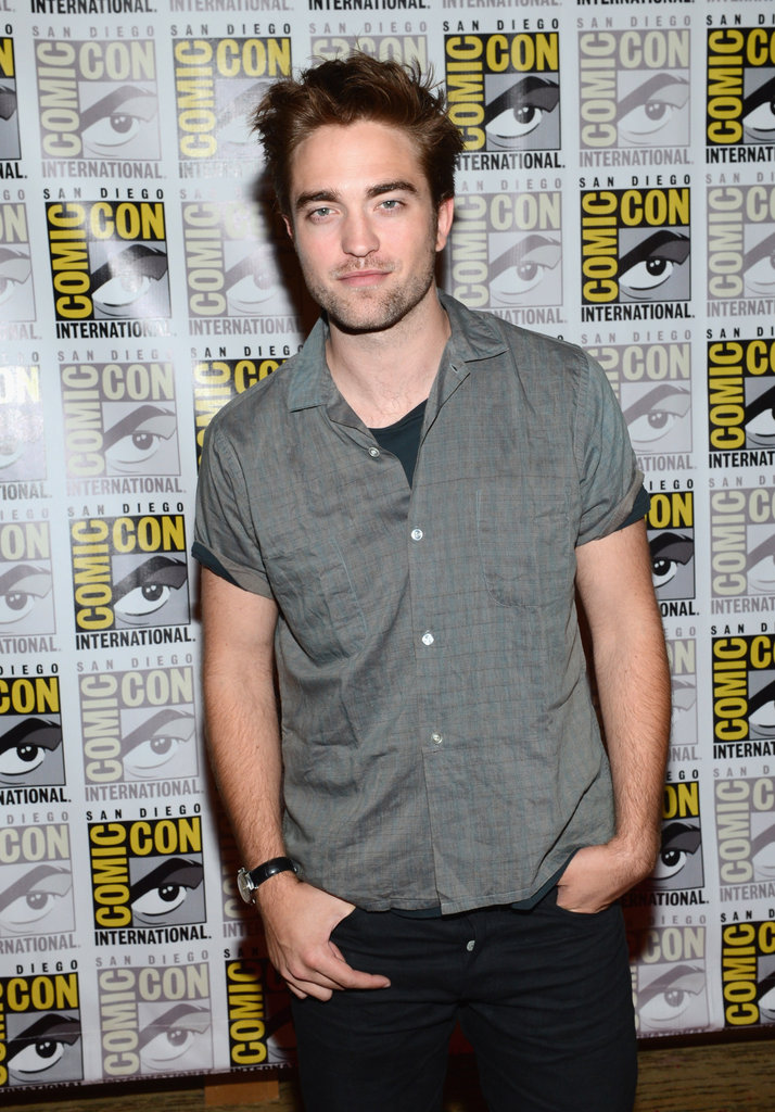 Robert Pattinson smiled at Comic-Con.