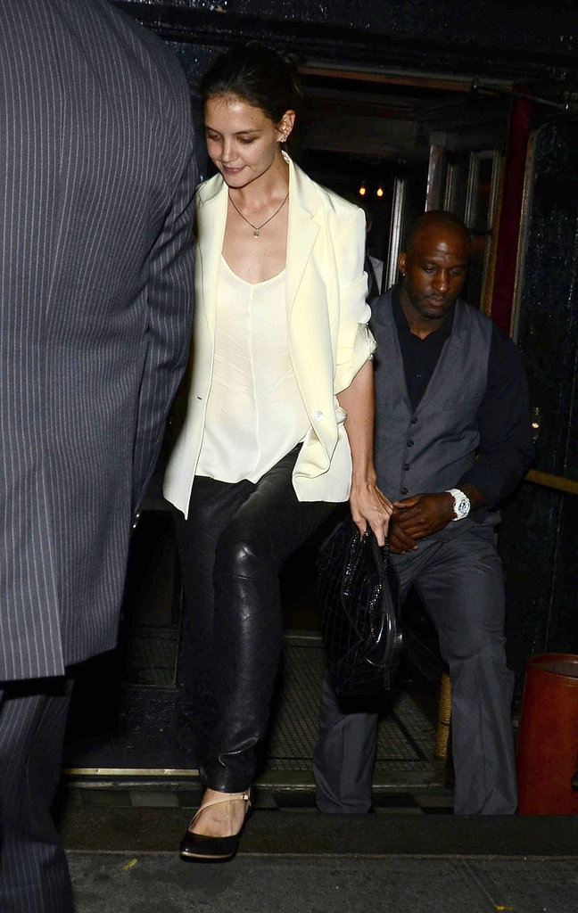 Katie Holmes grabbed dinner with friends.