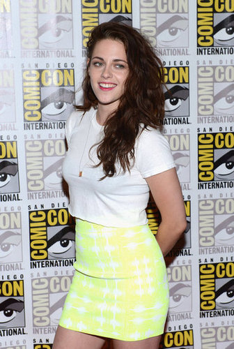 Kristen Stewart smiled at Comic-Con.