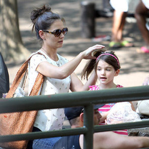 Katie Holmes and Suri Cruise Pictures With Katie's Mum Kathleen at Central Park Zoo