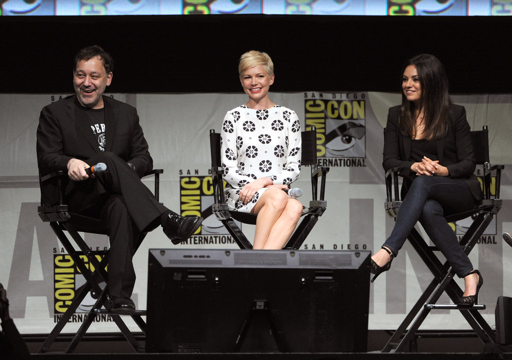 Michelle Williams, Mila Kunis, and Sam Raimi chatted at a panel promoting Oz: The Great and Powerful at Comic-Con.