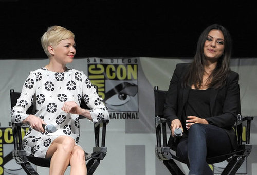 Mila Kunis and Michelle Williams shared a laugh at Comic-Con.
