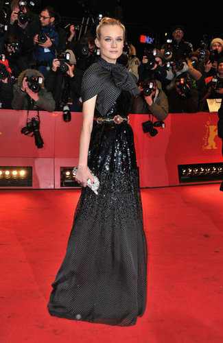 Diane's Giambattista Valli Couture gown didn't short on the fashion-forward drama at the Berlin Film Festival in February 2012.