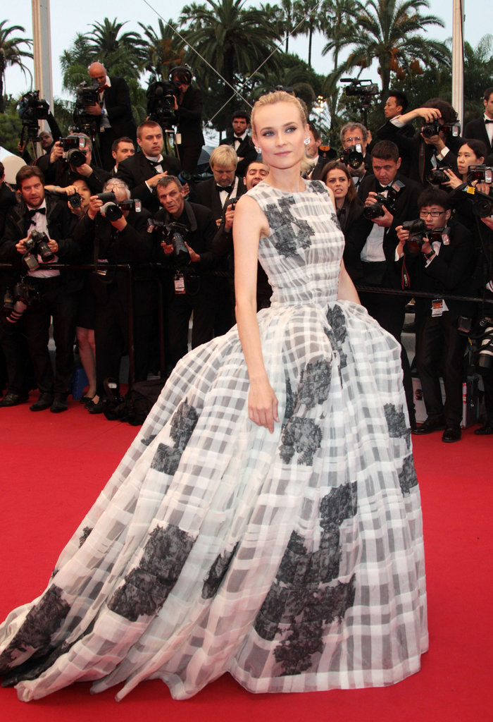 Diane attended this year's Cannes closing ceremony and the premiere of Thérèse Desqueyroux in a wildly voluminous Christian Dior Haute Cout