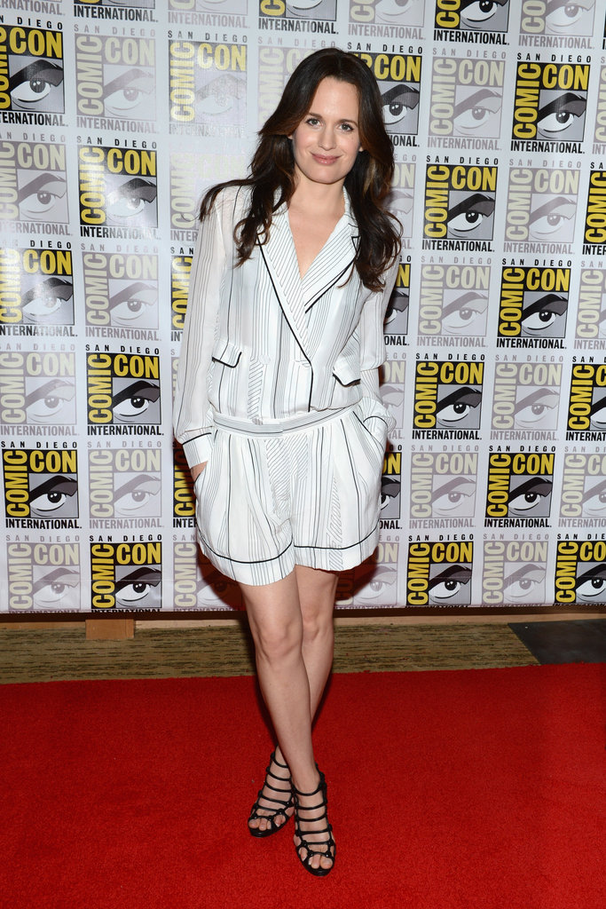 We heart Elizabeth Reaser's PJ inspired short suit.