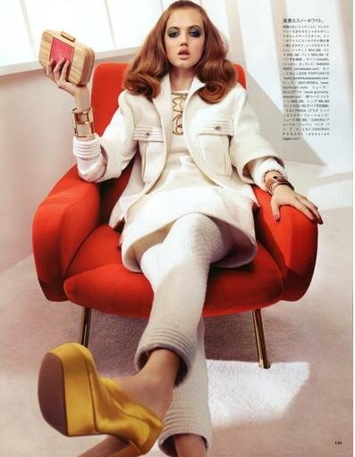 Lindsey Wixson Has Auburn Hair in Vogue Japan August 2012