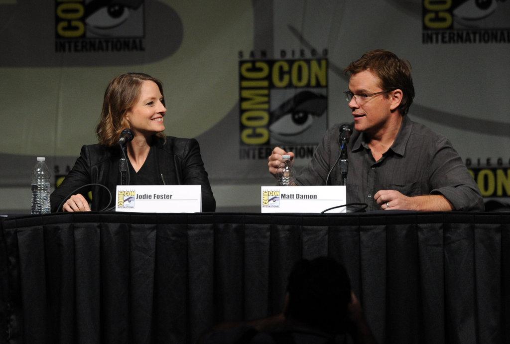 Matt Damon promoted Elysium with Jodie Foster.