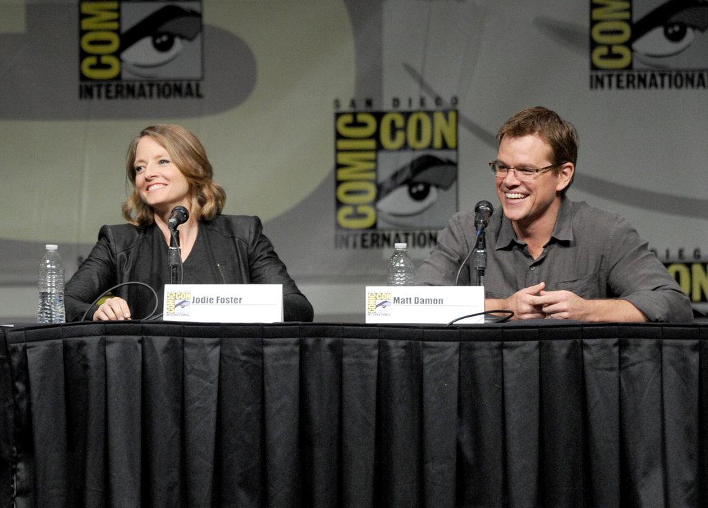 Matt Damon and Jodie Foster at Comic-Con.
