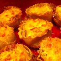 T's Meaty Lasagna Cupcakes