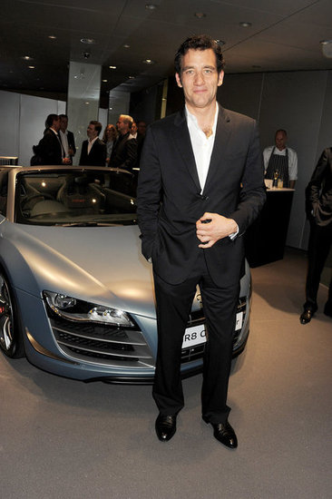 Clive Owen posed with an Audi.