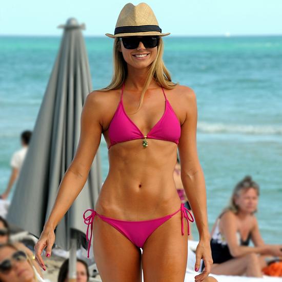 Stacy Keibler Ab Bikini Workout | Video