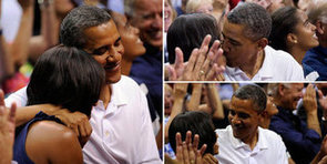 Barack and Michelle Obama Kiss For the Cam While Watching Team USA