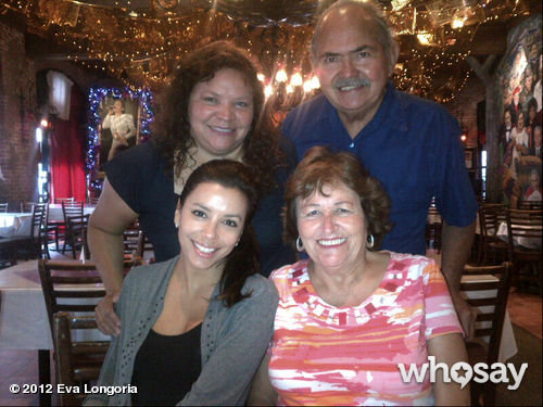 Eva Longoria enjoyed a meal with her family in San Antonio, Texas. Source: Eva Longoria on WhoSay