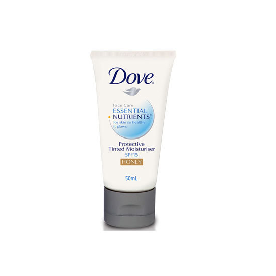 Dove Essential Nutrients Tinted Moisturiser in Honey, $9.99