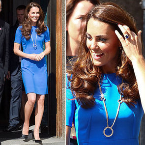 Kate Middleton Wearing a Blue Dress by Stella McCartney