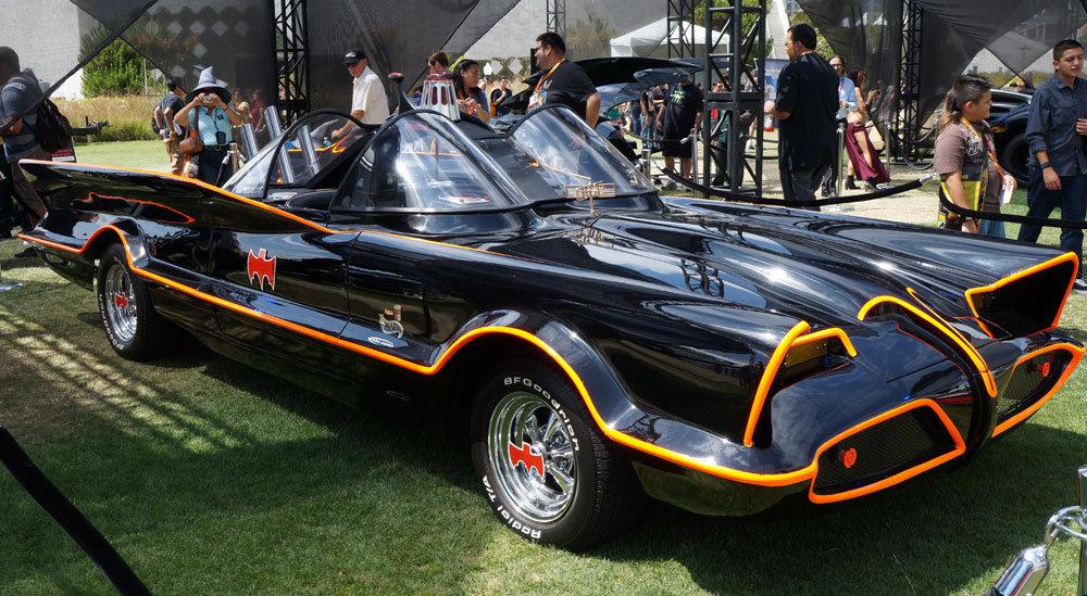 Hot-rod Batmobile from the 1960s Batman TV series.