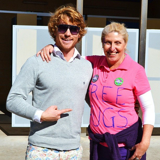 Hayden Quinn scored some free hugs. Source: Instagram user kristelle_gav