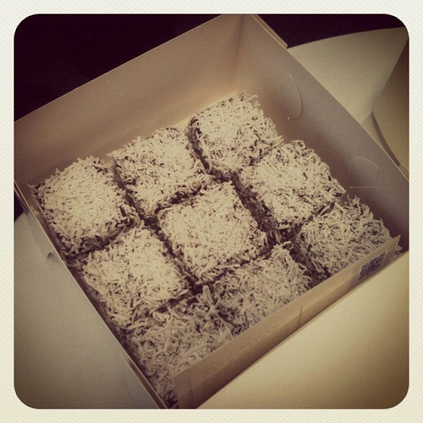 Lamington-time! Yes, we may have eaten the entire tray... what of it?