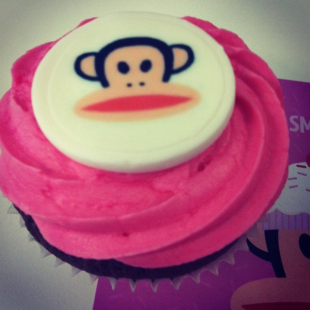 Yes, more cake! Tuesday it came in the shape of a cute Paul Frank stamped cupcake from Lip Smackers.