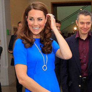 Pictures of Kate Middleton In Blue Stella McCartney Dress and $74,000 Cartier Necklace: Snoop Her Look from All Angles