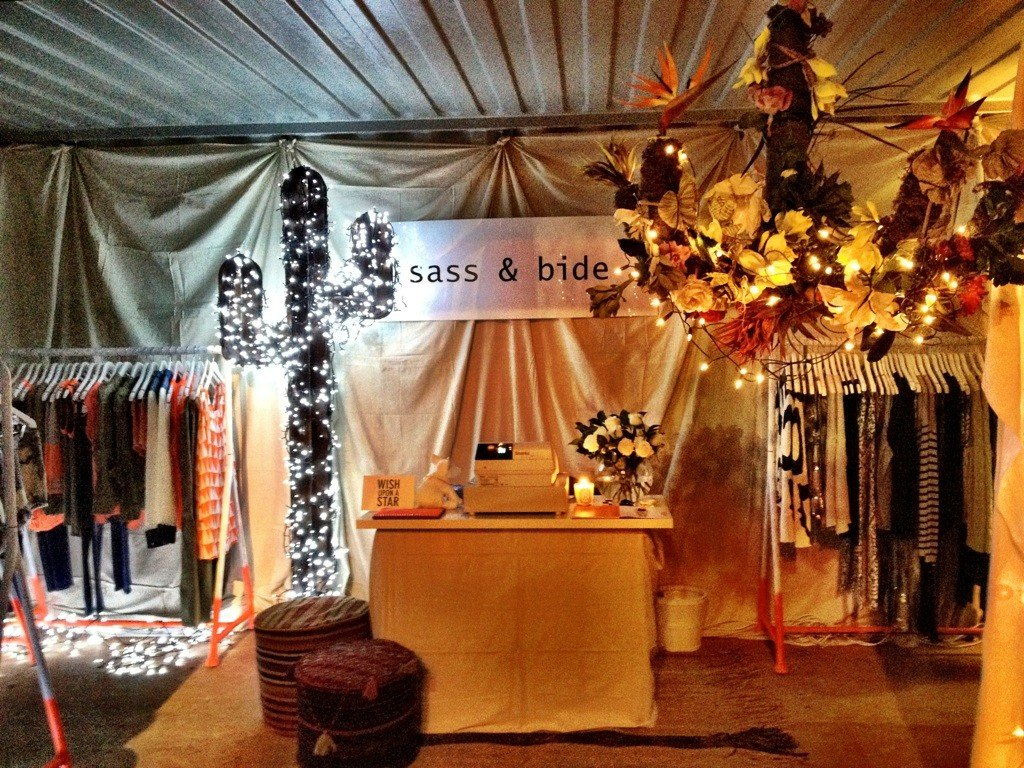 Cute! We may not have been able to wing it up to Byron Bay for Splendour in the Grass, but sass & bide did share a snap of their adorable pop-up in The Very Small Mall.
