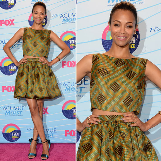 Zoe Saldana at Teen Choice Awards 2012