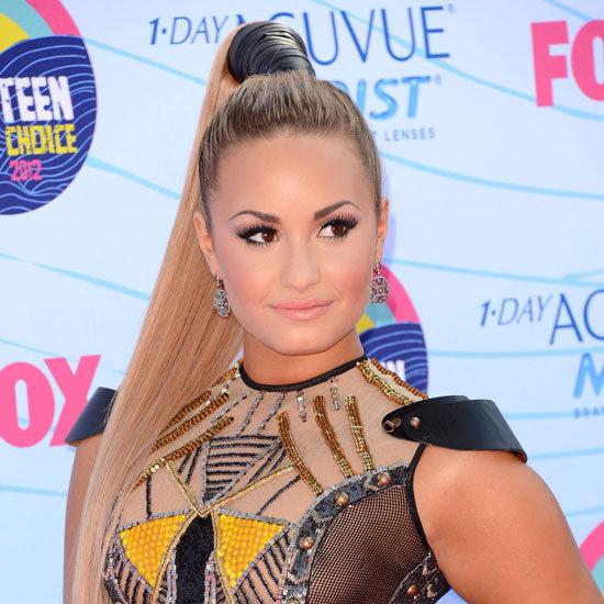 Demi Lovato's Beauty Look at the 2012 Teen Choice Awards