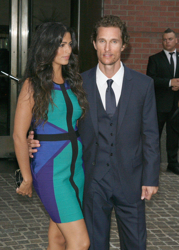 Matthew McConaughey and Camila Alves were together outside of a screening of Killer Joe.