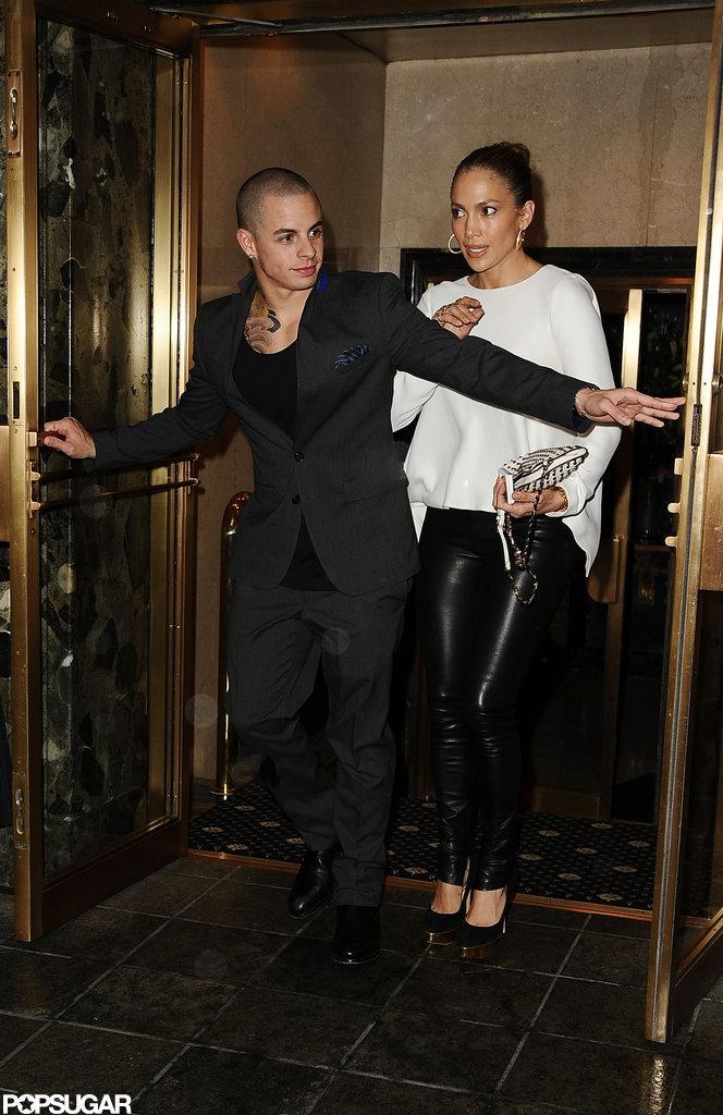 Casper Smart opened the doors for Jennifer Lopez as the couple left dinner in NYC.
