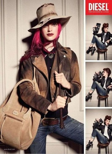 Diesel's Fall 2012 ad campaign focuses on clothing with a roughed-up, edgy attitude.