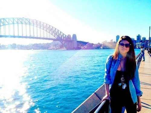 Selena Gomez took in the sights in Sydney, Australia. Source: Facebook user Selena Gomez