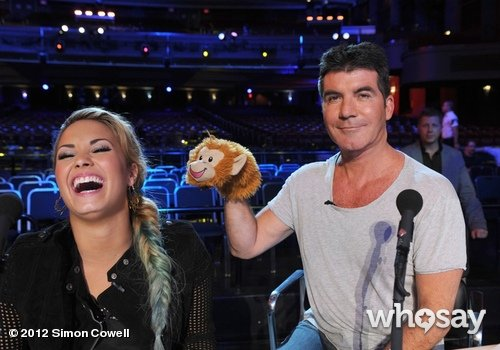 Simon Cowell taunted Demi Lovato with a puppet on the set of The X Factor. Source: Simon Cowell on WhoSay