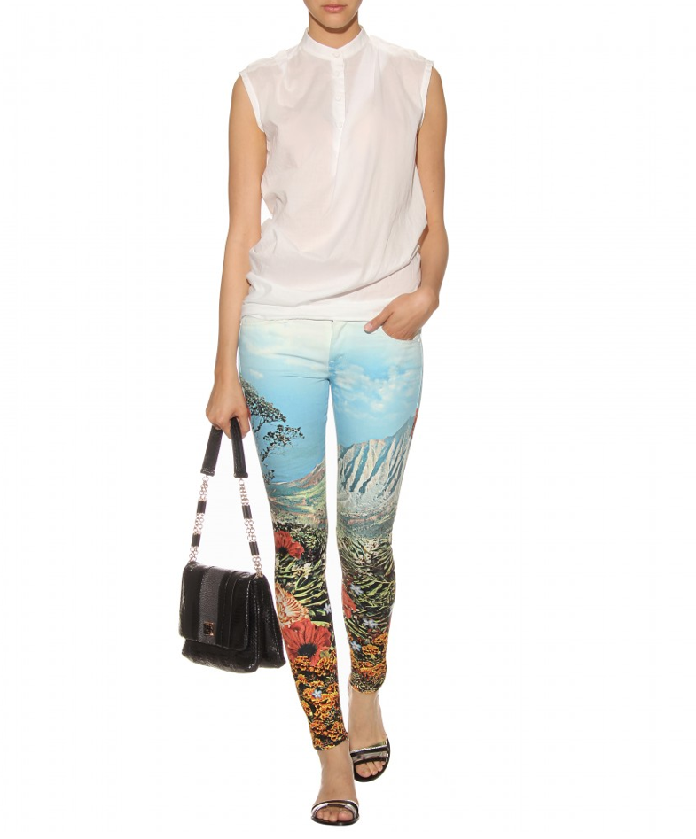 We're more than just a little obsessed with these Mother jeans. Sure, they're bold, but with minimal accessorizing, they speak for themselves. Mother The Looker Mid-Rise Printed Skinny Jeans ($306, originally $436)