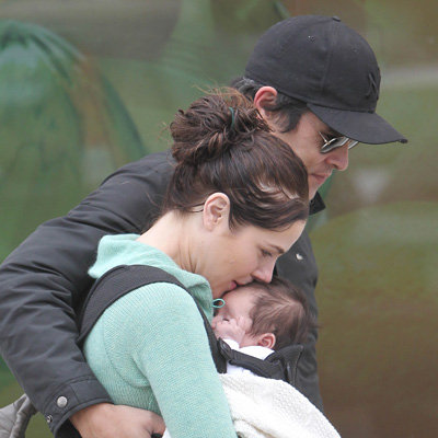 Pictures of Jessica Marais, James Stewart and Baby Scout Grocery Shopping in Sydney